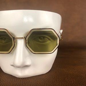 Chloe Tortoise Print Octagon Sunglasses